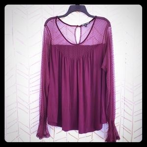 Maroon Lacy Blouse